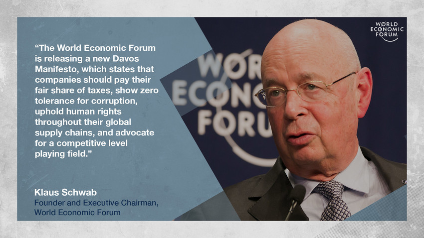 Klaus Schwab quote card