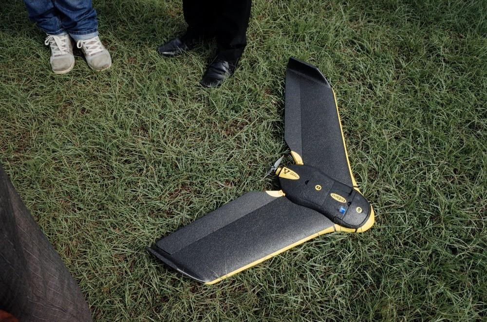 À Zanzibar, les relevés aériens sont effectués par l'eBee, un drone léger conçu par senseFly
