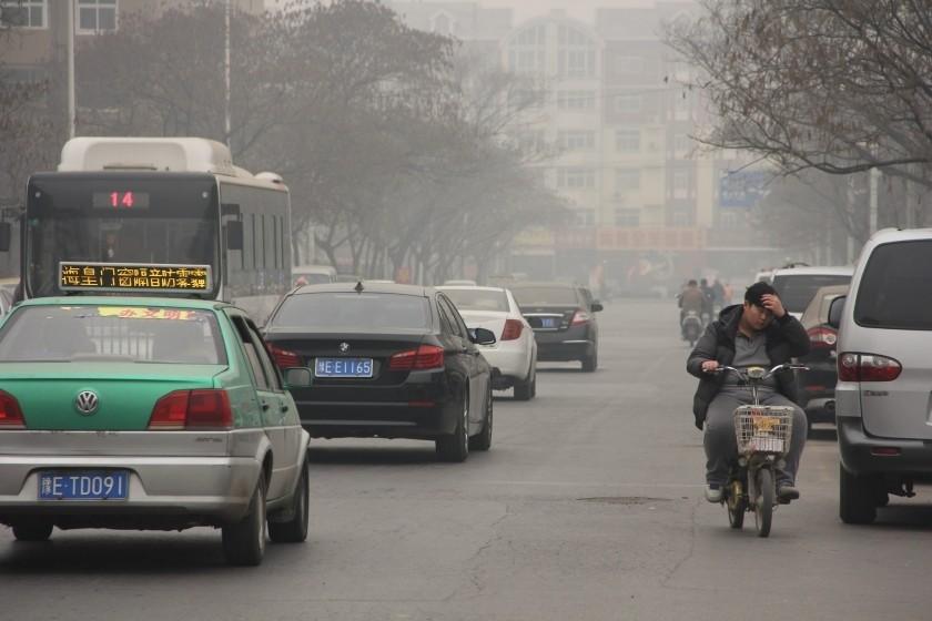 La ville d'Anyang en Chine, en plein pic de pollution.