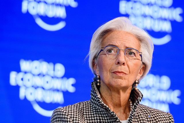 Christine Lagarde, Managing Director, International Monetary Fund (IMF), Washington DC speaking during the Session