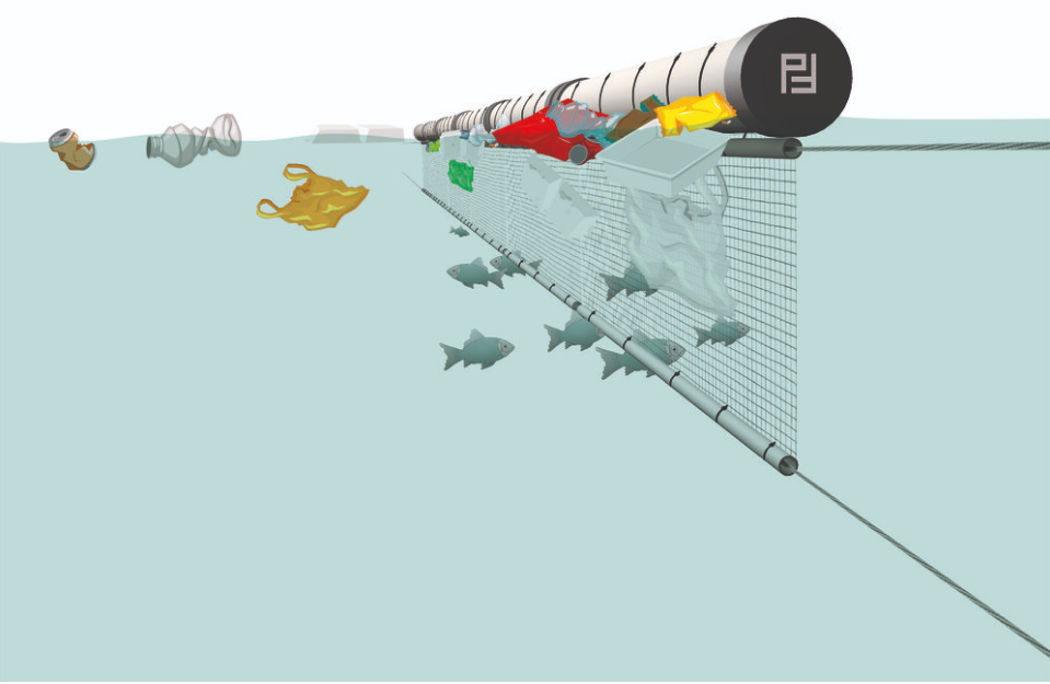 Trashbooms are a quick and simple solution to stop floating waste in rivers