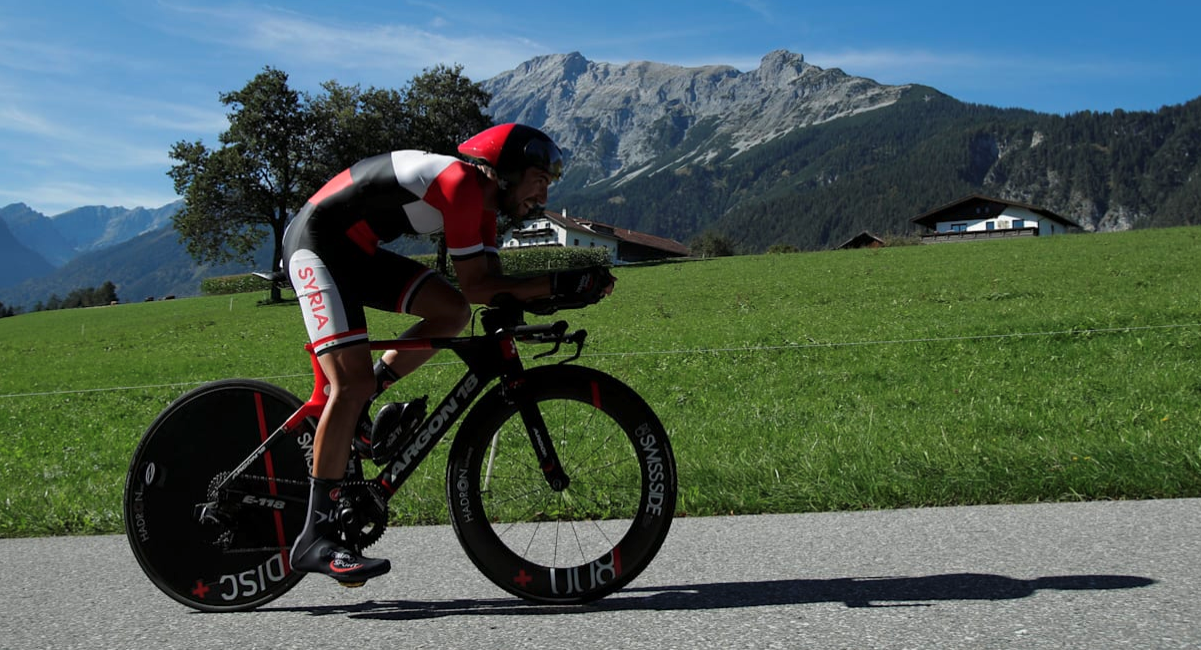 pictured here is Ahmad Badreddin Wais, who is a four-time UCI Road World Champion time trial participant