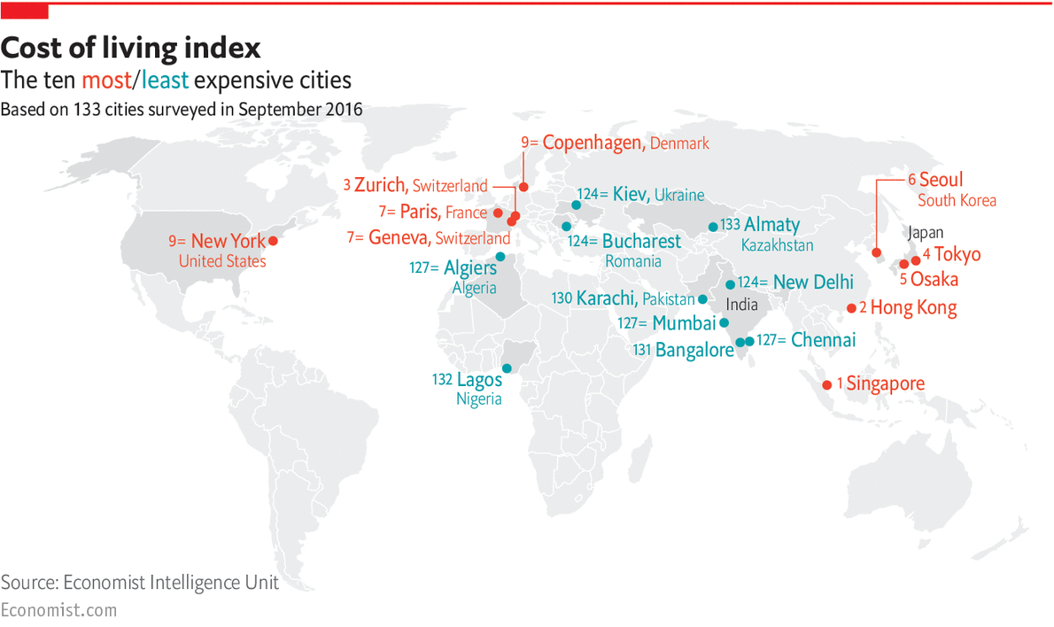 have you read the 10 most expensive cities to live in
