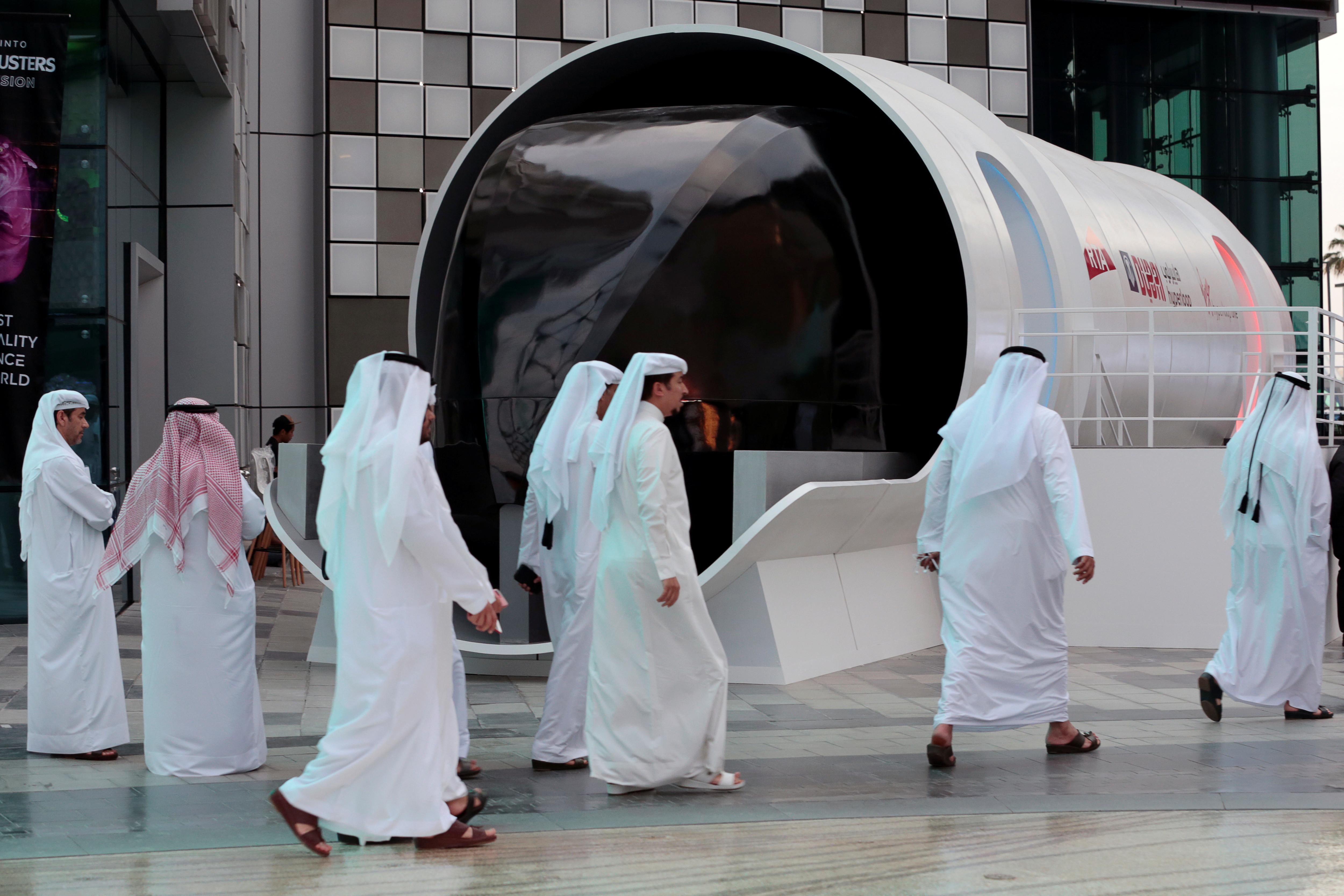 A hyperloop design model in Dubai.