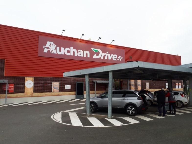 Drive Auchan au Mans, Sarthe.