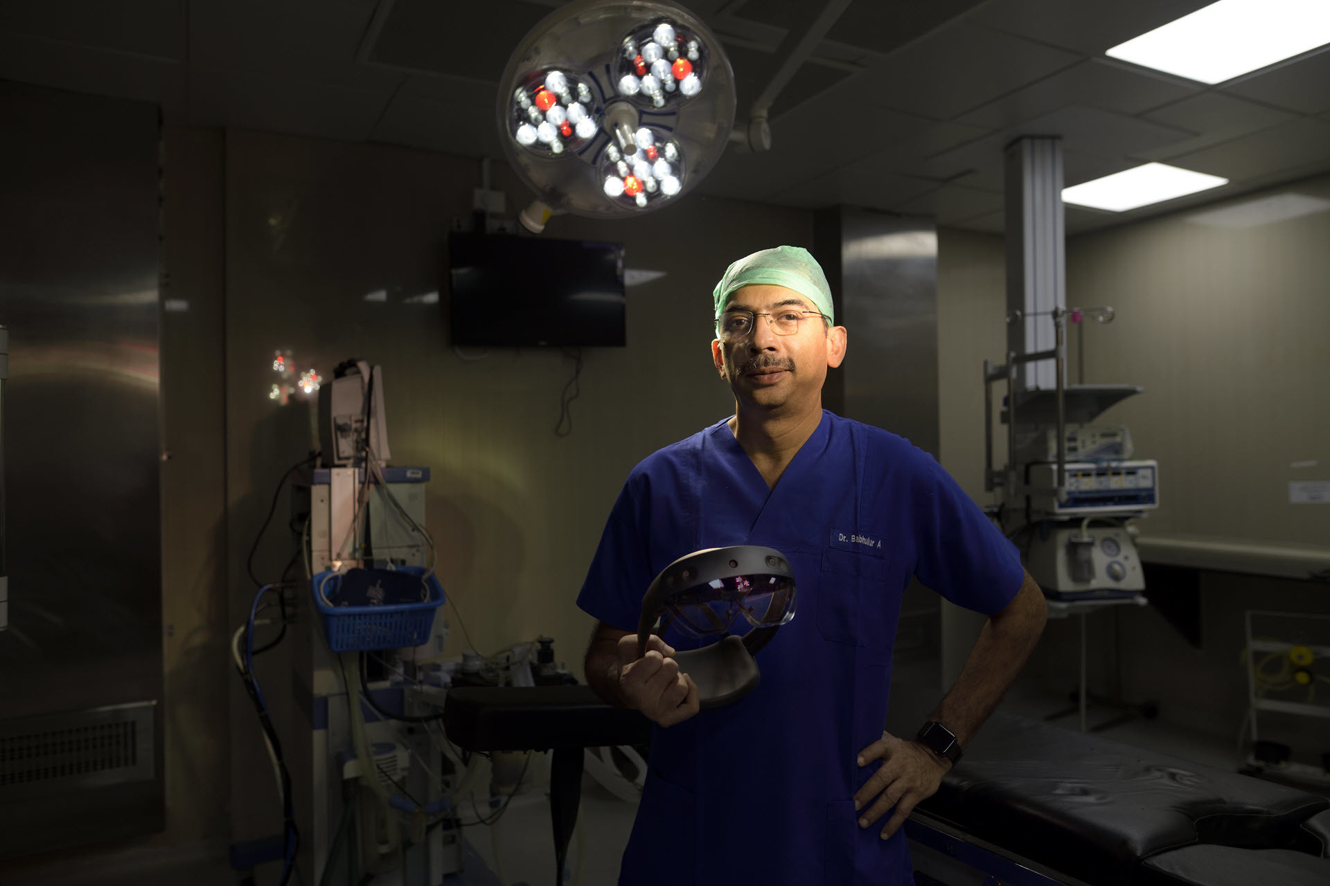 image of Dr. Ashish Babhulkar, based in India, who believes the HoloLens will 'revolutionize treatment' in remote parts of the world