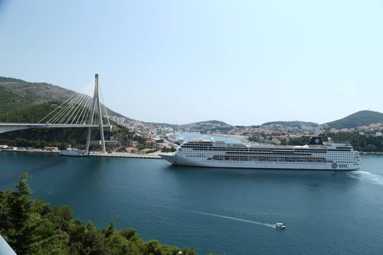 Cruise ship is seen entering Gruz port in Dubrovnik, Croatia, August 2, 2018. Picture taken August 2, 2018.