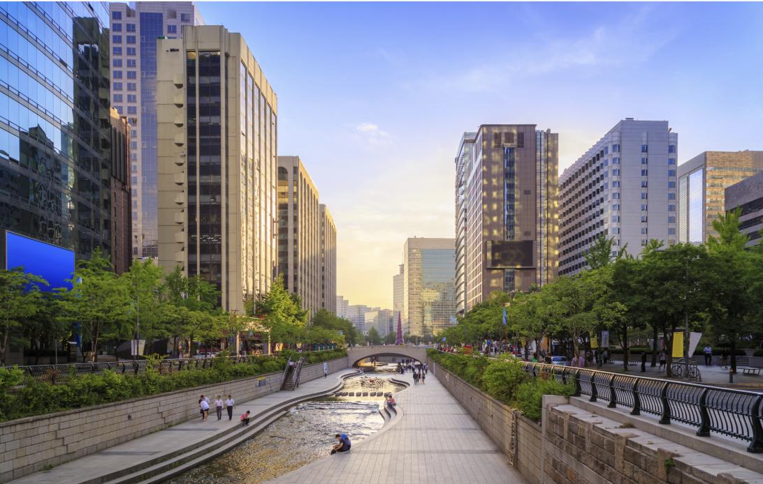 Ville verte… Séoul, Corée.