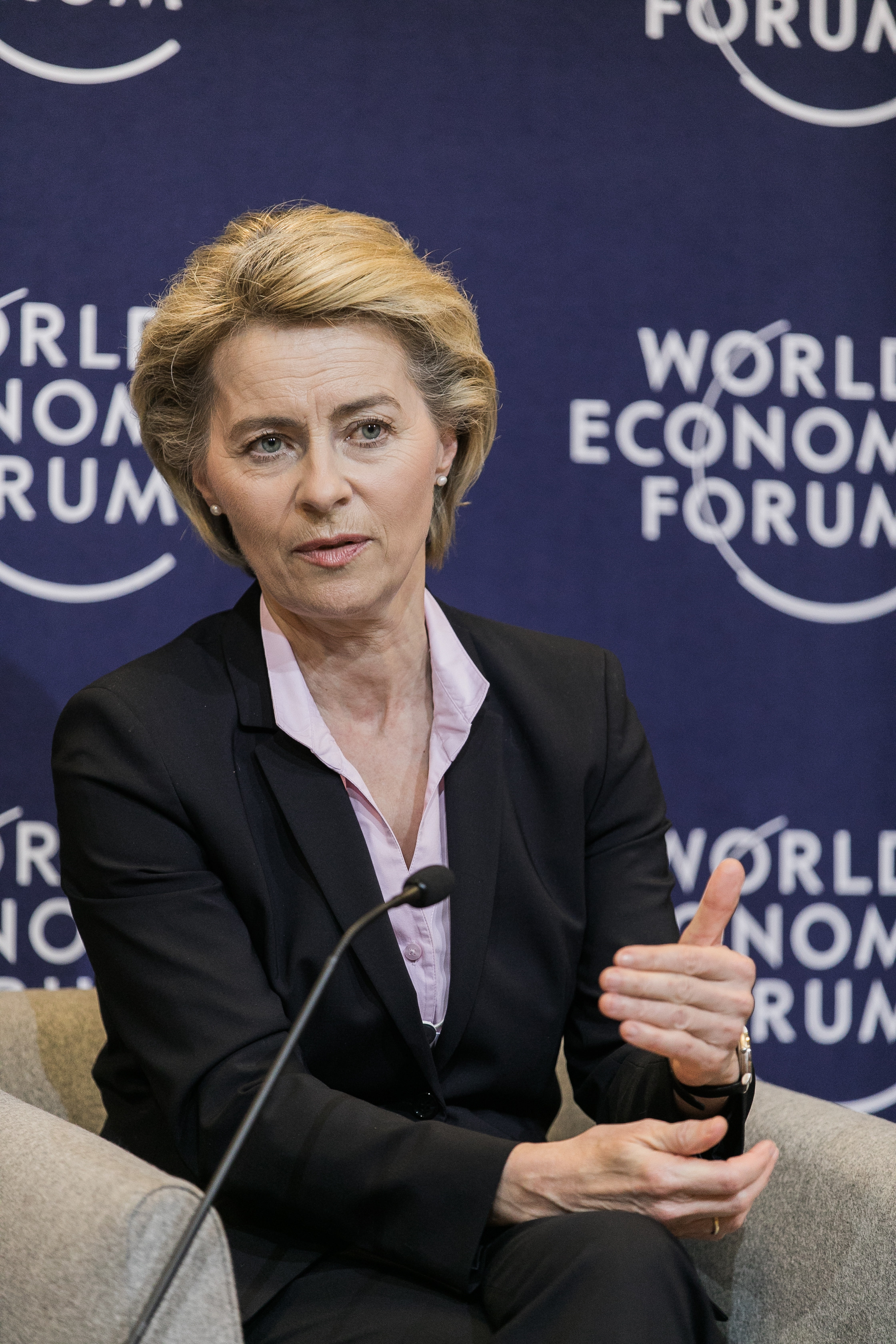 Ursula von der Leyen, Federal Minister of Defence of Germany; Co-Chair of the World Economic Forum on the Middle East and North Africa at the World Economic Forum on the Middle East and North Africa 2017. Copyright by World Economic Forum / Jakob Polacsek
