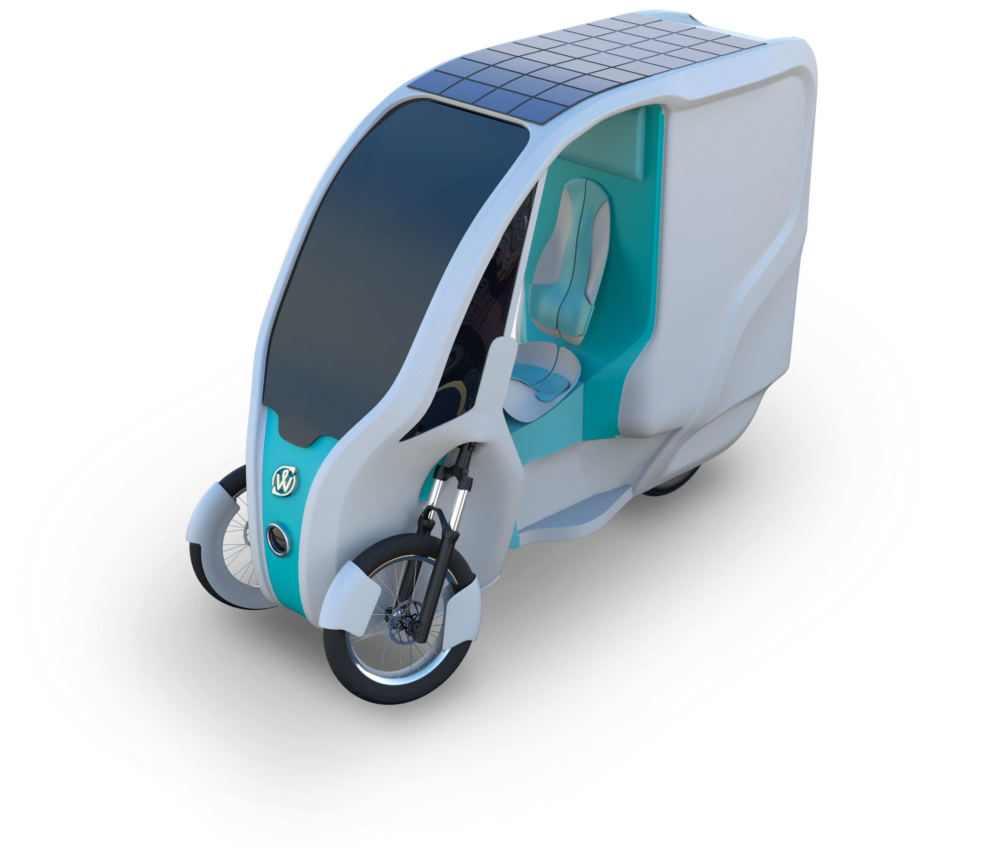 The solar powered tricycle.