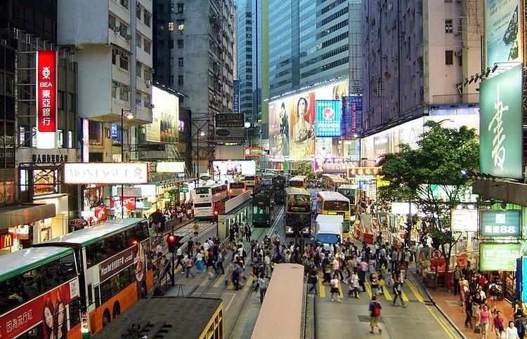 Une rue de Hong Kong.