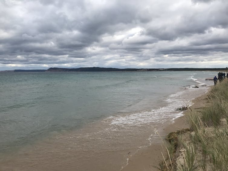 Lake Michigan's high water levels consumed beaches at Sleeping Bear Dunes National Lakeshore in 2019.