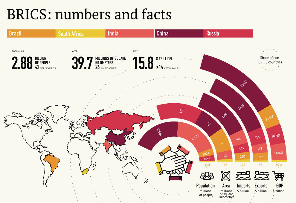 How do the BRICS nations sit within the global economy?