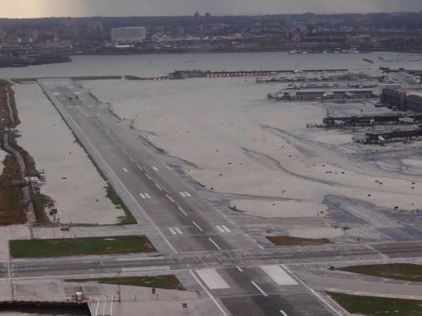 New York's LaGuardia Airport after Hurricane Sandy in 2012.
