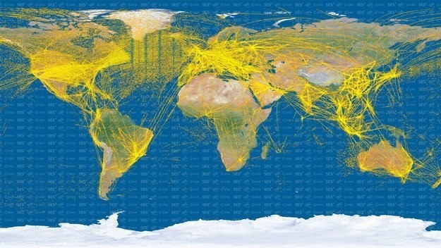 Air traffic detected by ESA's Proba-V