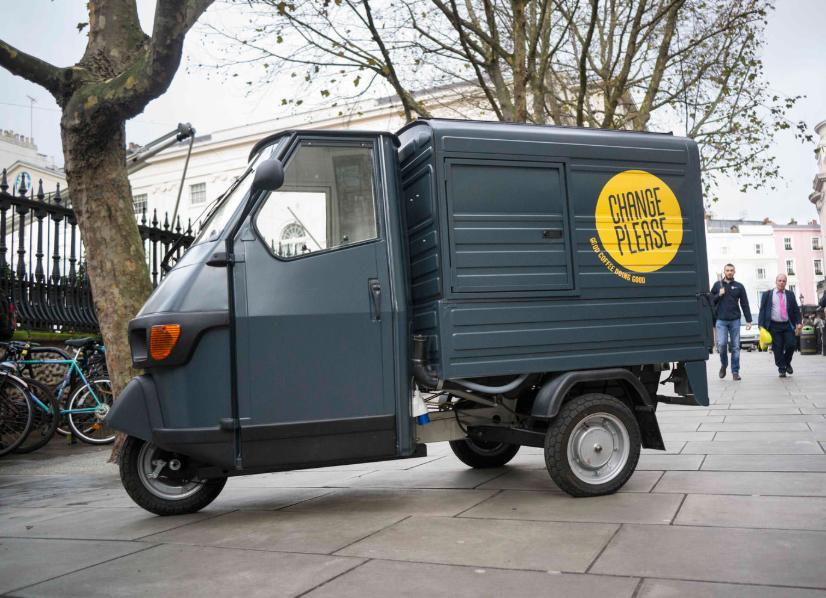 Example of Change Please Coffee van