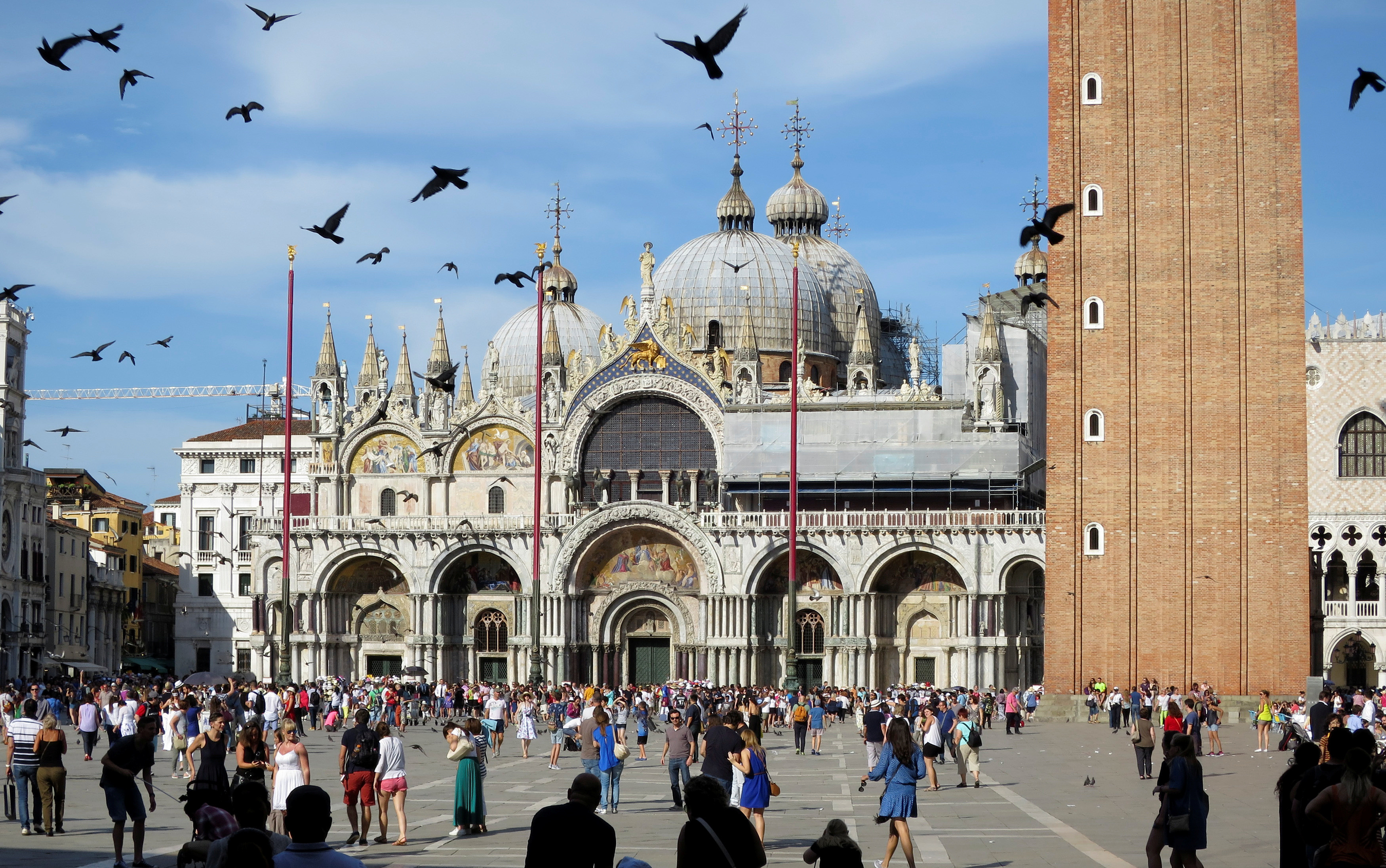 San Marco Dome is seen in the Piazza San Marco (St.Mark's square) in Venice, Italy, June 18, 2016.   REUTERS/Fabrizio Bensch  - D1BETLEGZOAA