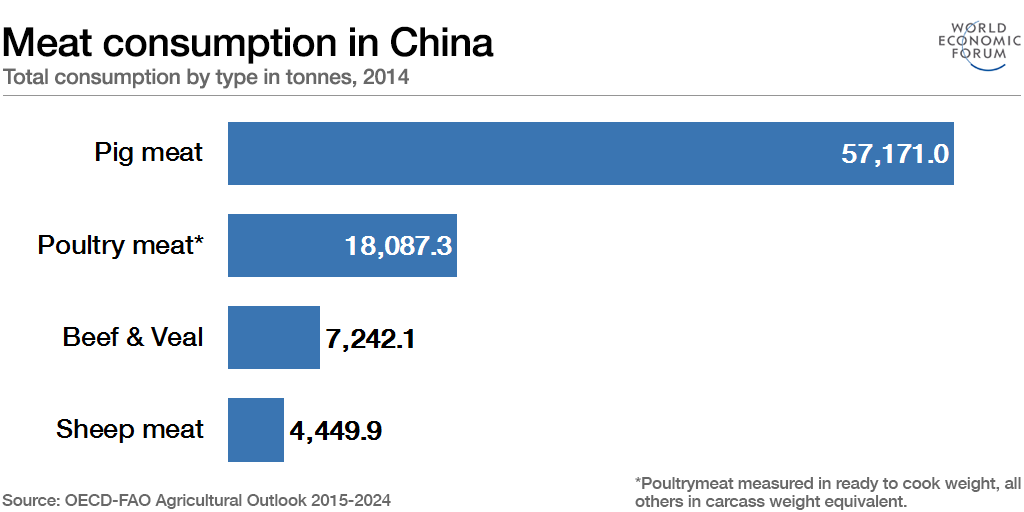 Meat consumption in China