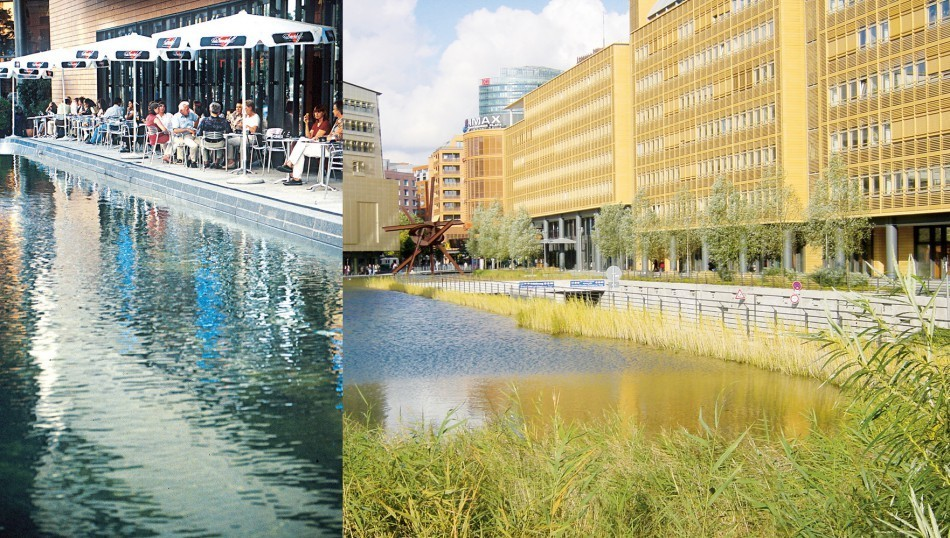 Potsdamer Platz resilience water features