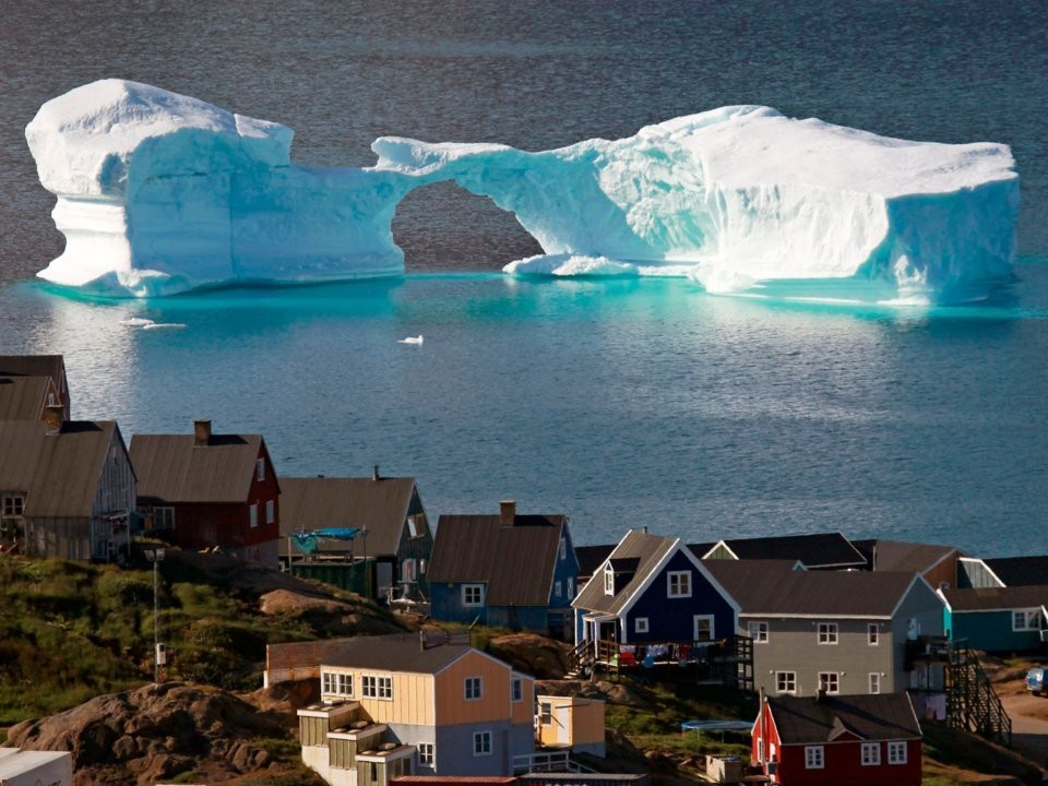 The town of Kulusuk in east Greenland.