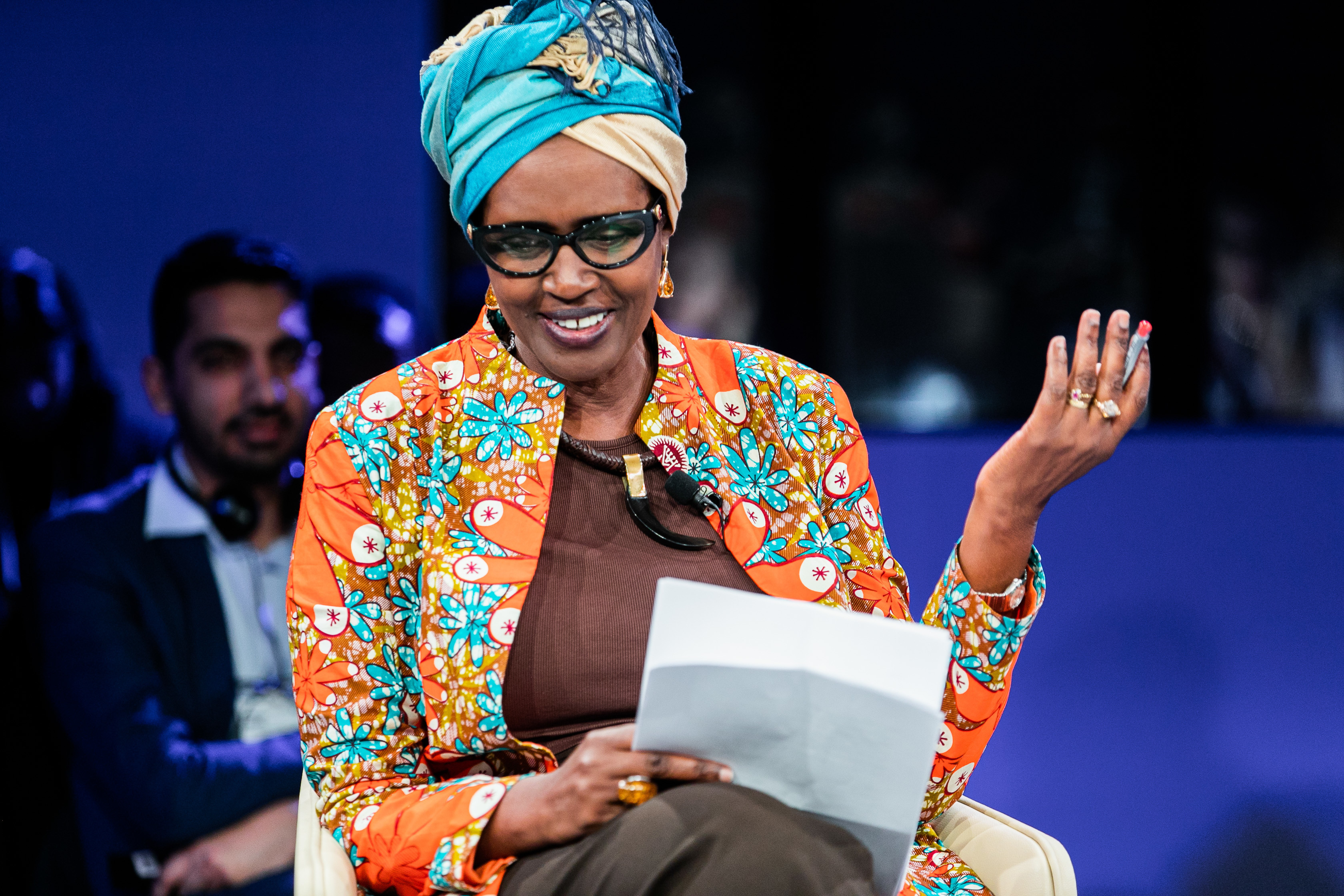 Winnie Byanyima, Executive Director, Oxfam International, Kenya speaking during the session The Gig Economy  at the World Forum World Economic Forum on Africa 2019. Copyright by World Economic Forum / Jakob Polacsek