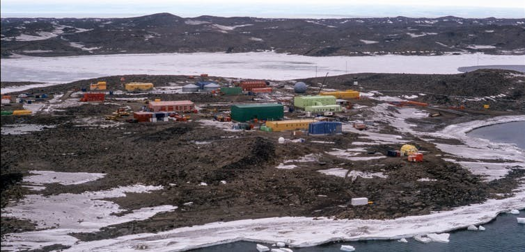 Davis Station, one of Australia's three permanent research outposts in Antartica. Researchers used Google Earth images to map the footprint of human infrastructure across the continent.