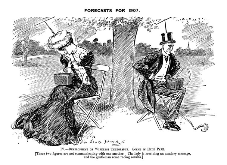 Forecasts for the future 1906 cartoon