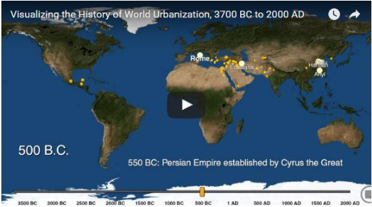 History of world urbanization
