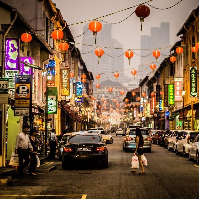 Une rue de Singapour.
