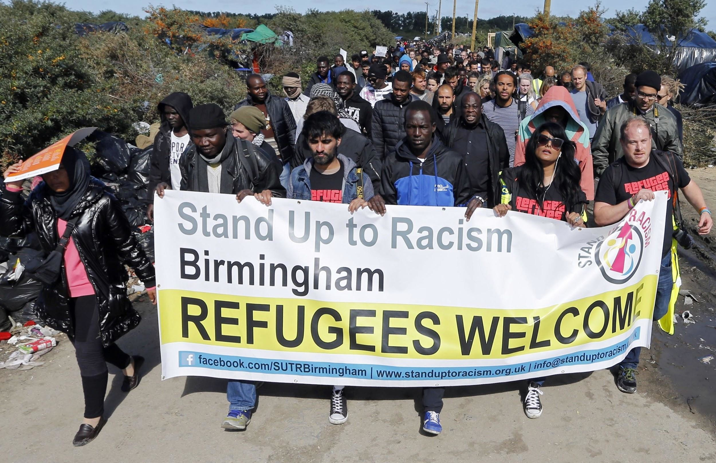 Civil society organizations march in support of refugees