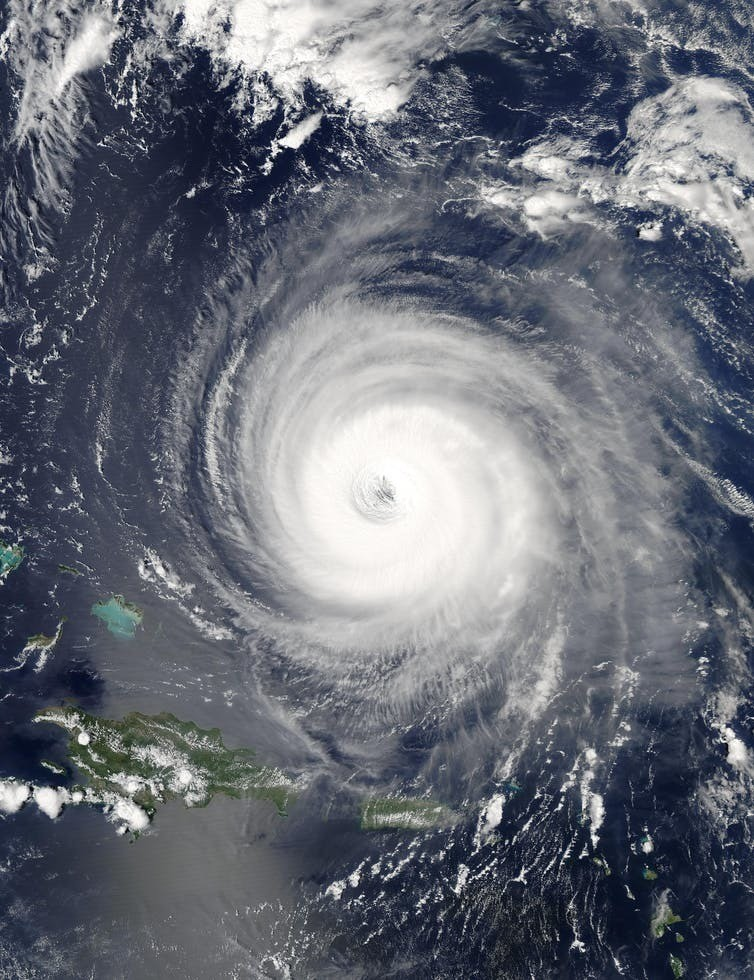 Hurricane Isabel made landfall on North Carolina's Outer Banks on Sept. 18, 2003. Its effects were felt as far as western New England and into the eastern Great Lakes.