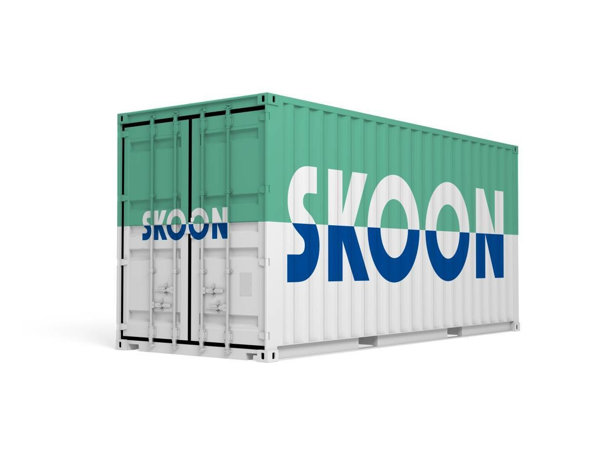 A Skoonbox containing renewable batteries is pictured, September 17, 2018.