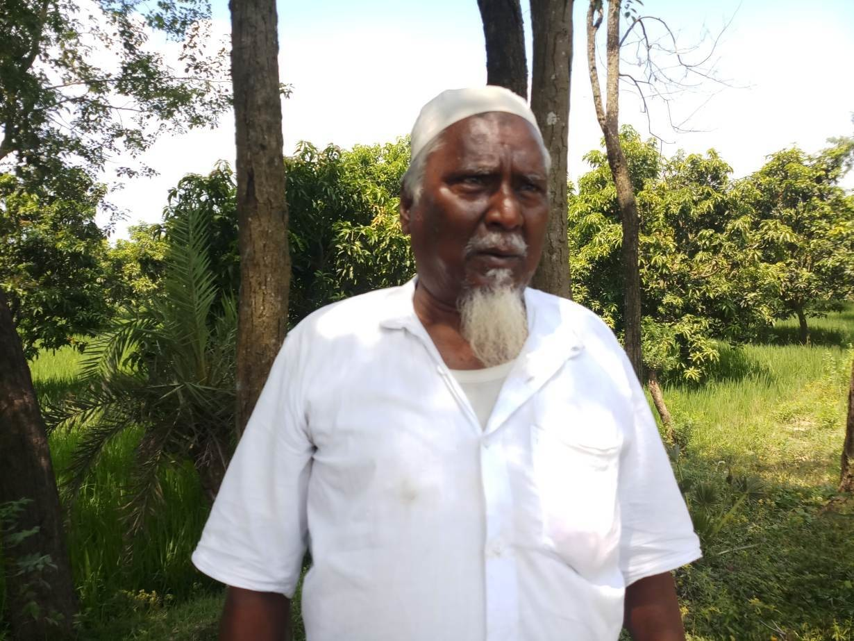 Mango-grower Tajul Islam explains why he has turned his paddy fields into more protitable orchards in Porsha sub-district, Bangladesh, on September 21, 2019.