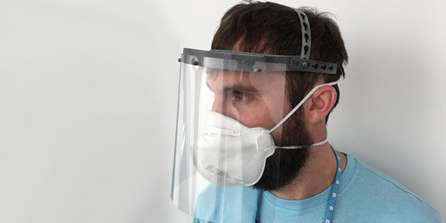 These parts include ventilator valves, breathing filters, face mask clasps, and innovations like plastic door handle adaptors that enable easy elbow opening to prevent further spread of the virus.
