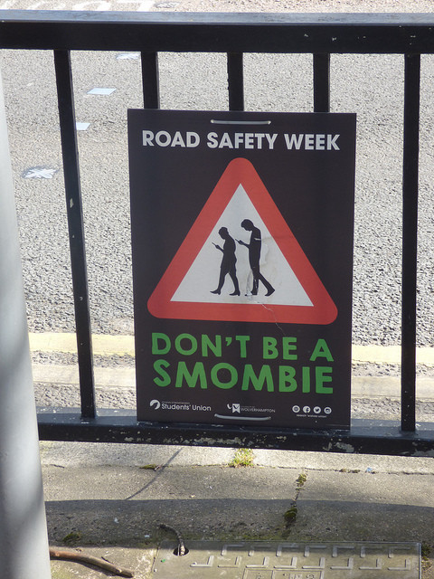 Road Safety Week – Don't be a Smombie – Stafford Street, Wolverhampton