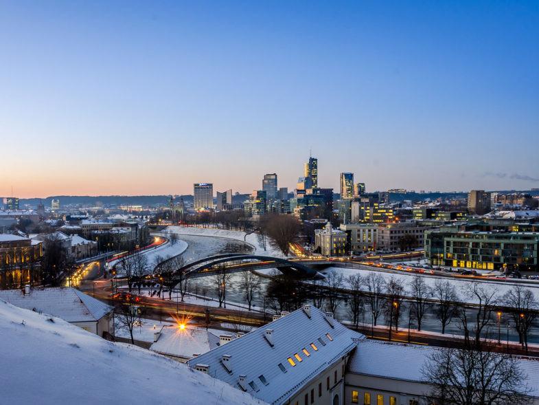 Vilnius en hiver.