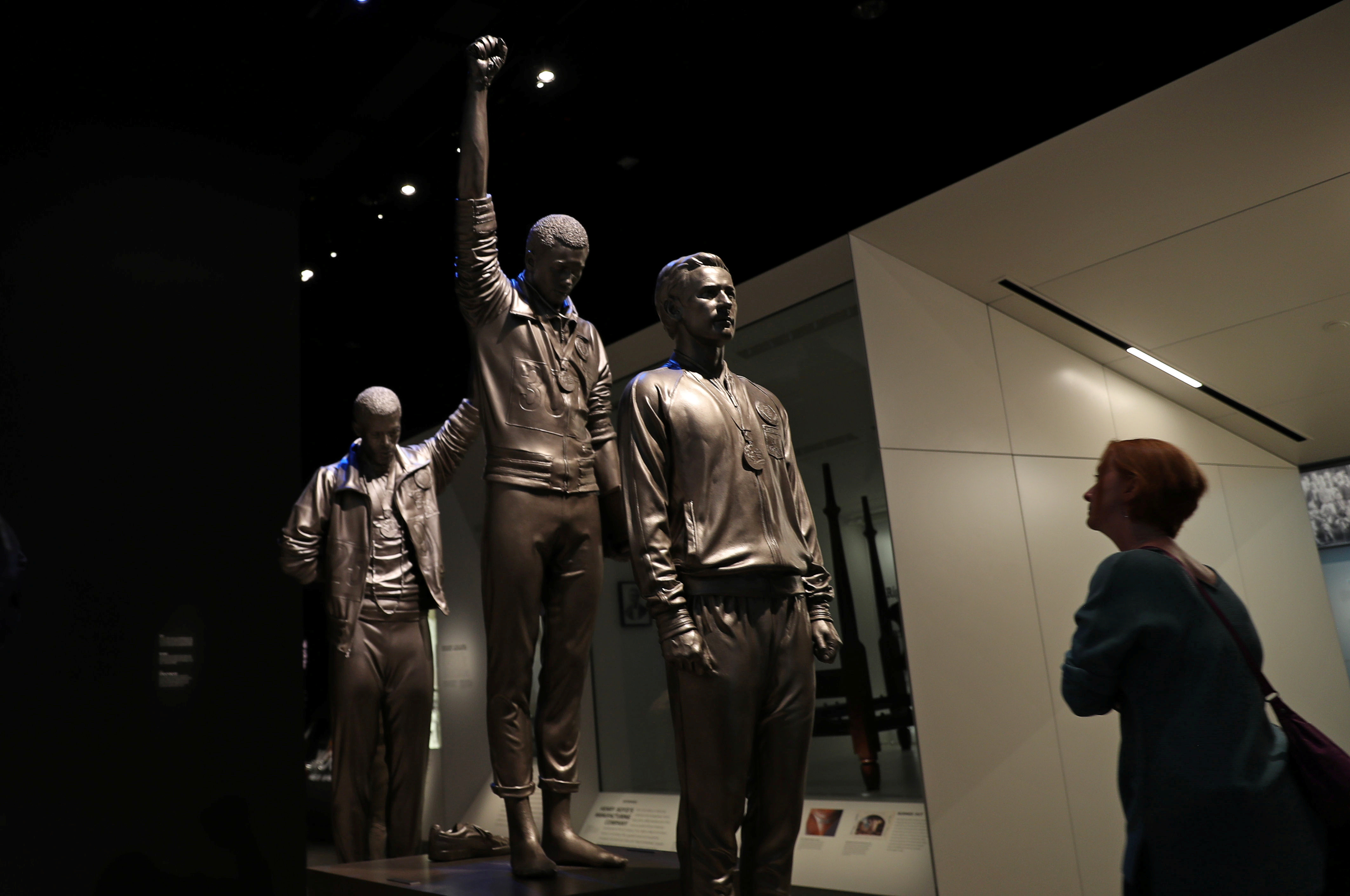 A visitor is seen at the National Museum of African American History and Culture in Washington, U.S., October 25, 2019. REUTERS/Siphiwe Sibeko - RC14287D1230
