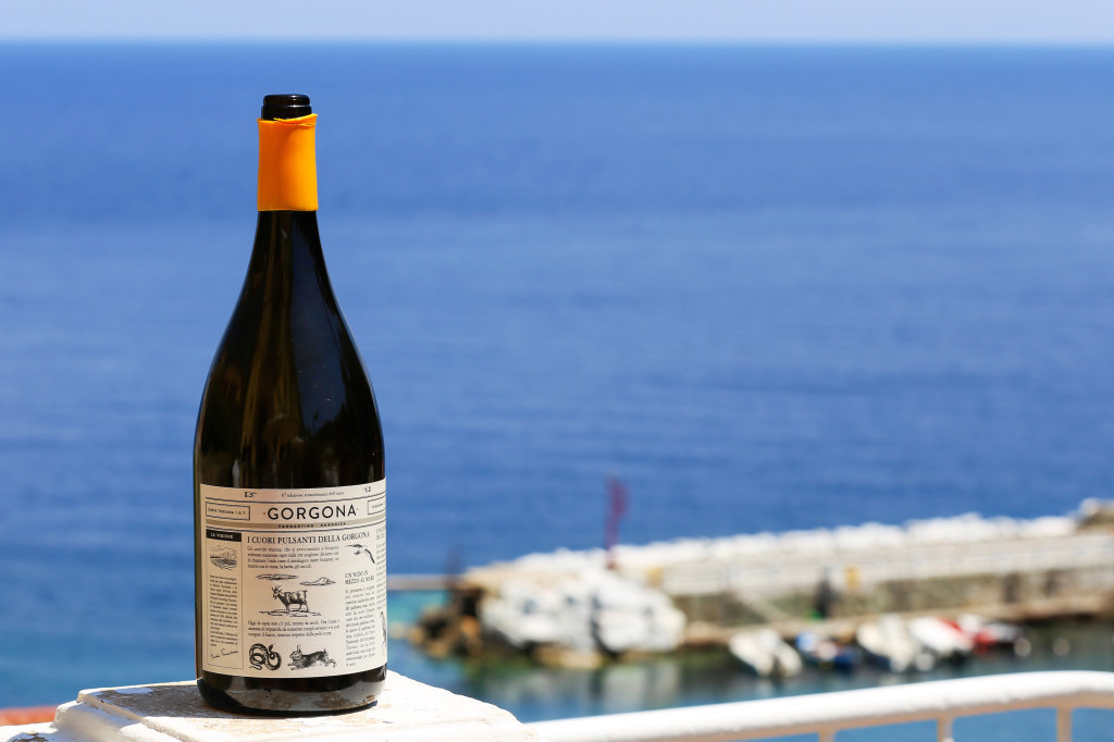 Gorgona is the white wine born from the collaboration of Frescobaldi and the island's penal institution.