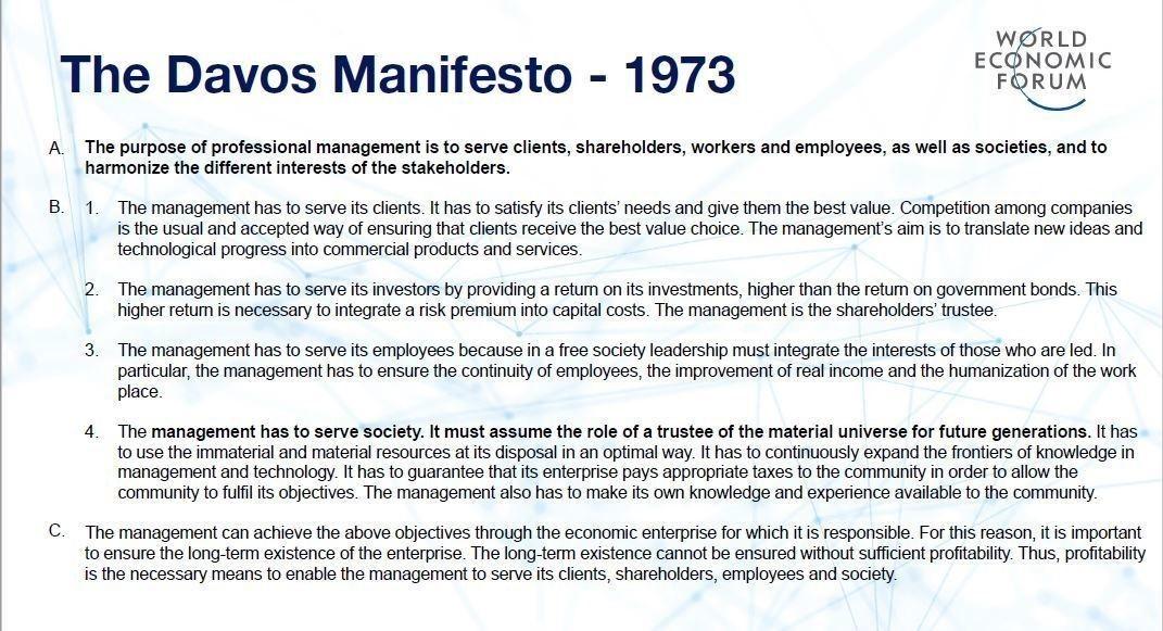 Davos history manifesto