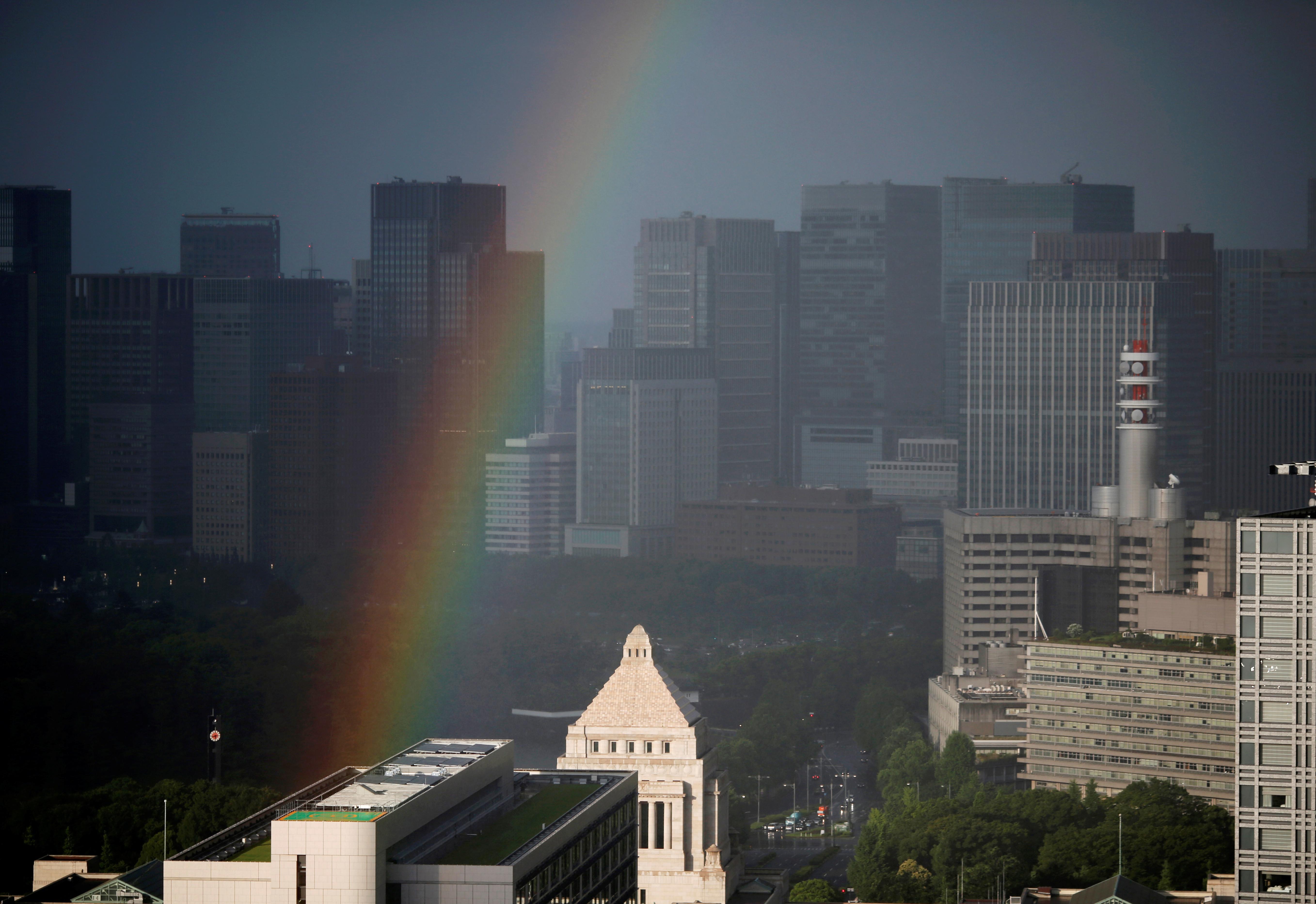 Rainbow over Tokyo