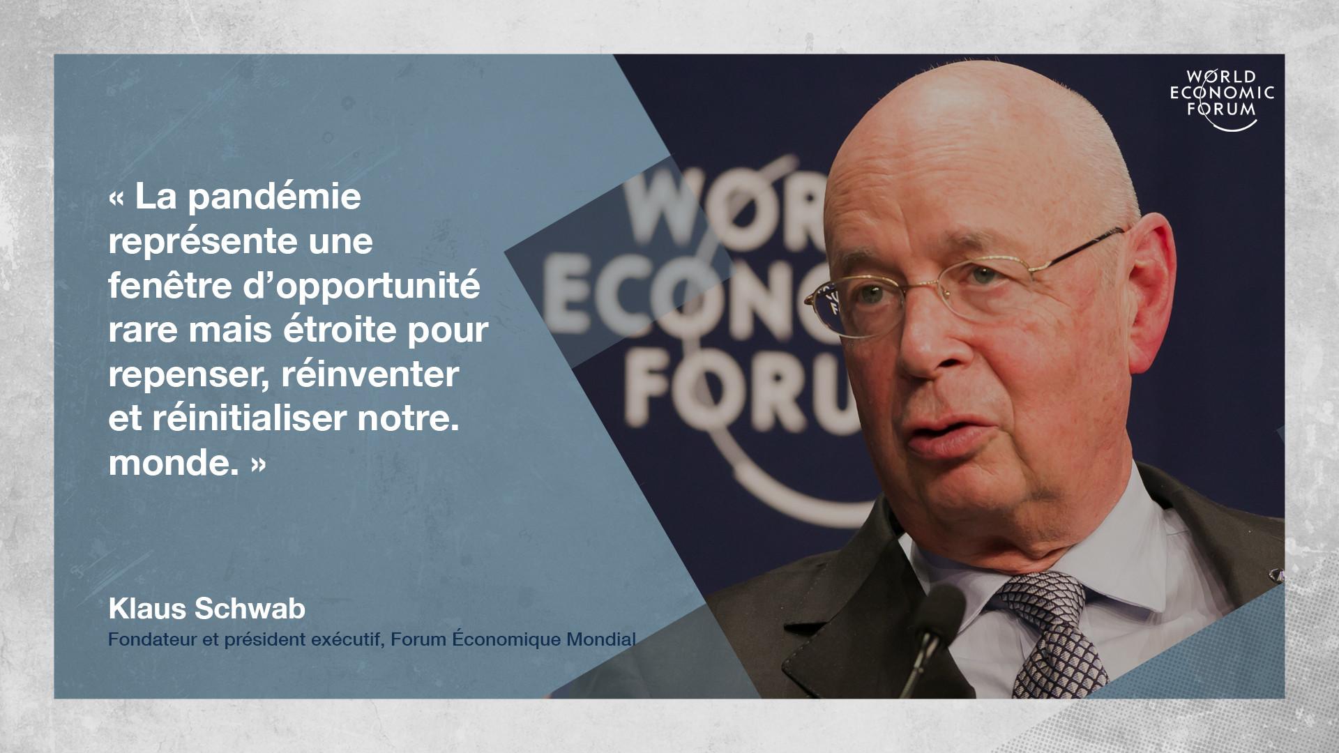 """Le moment est venu de procéder à une """"grande remise à zéro"""" du capitalisme    Forum Économique Mondial"""