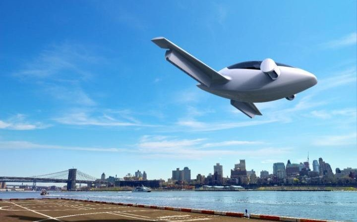 Lilium Aviation's electric plane, which takes off vertically