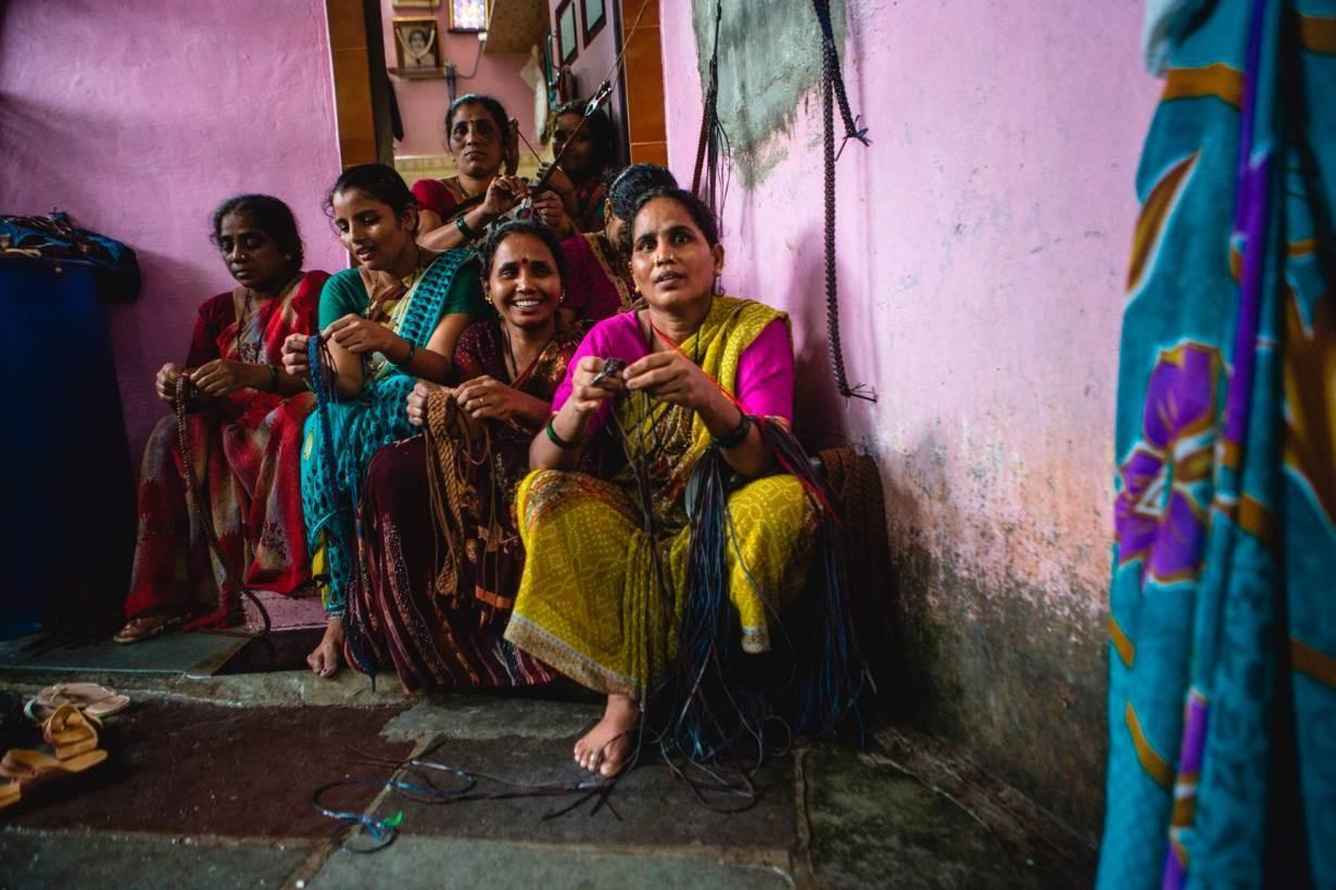 Dharavi slums.
