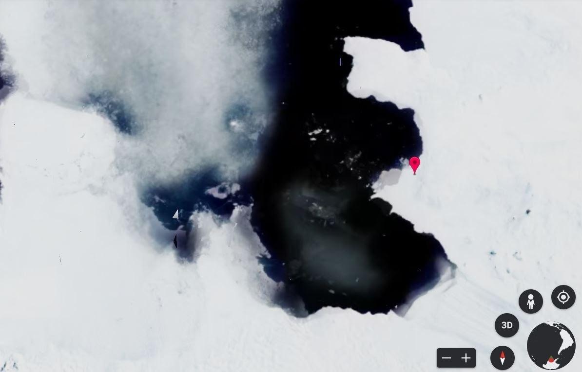 image of Pine Island Glacier, Antarctica in 2020