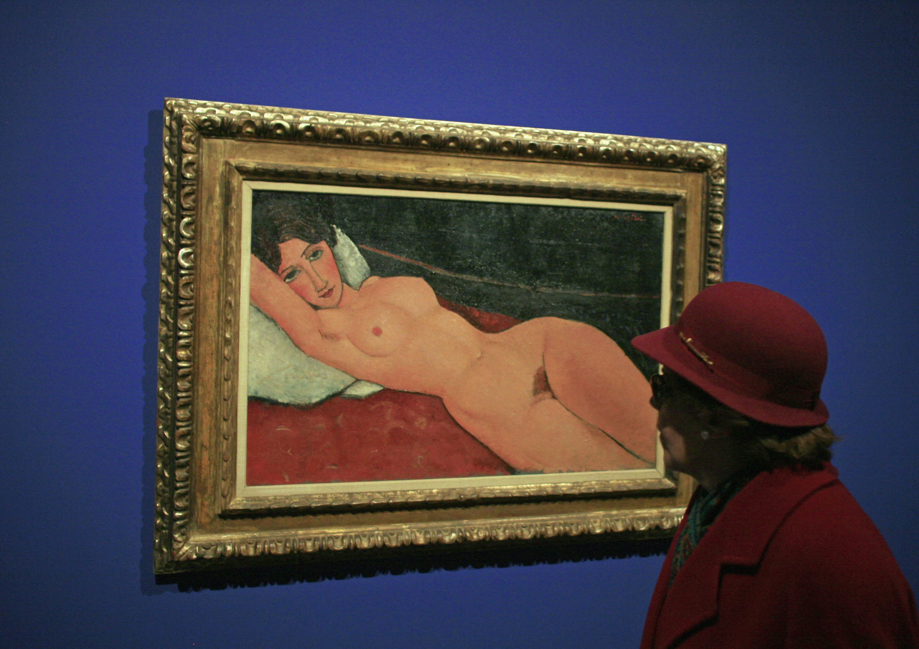 Nu Couché caused a scandal when first exhibited in 1917