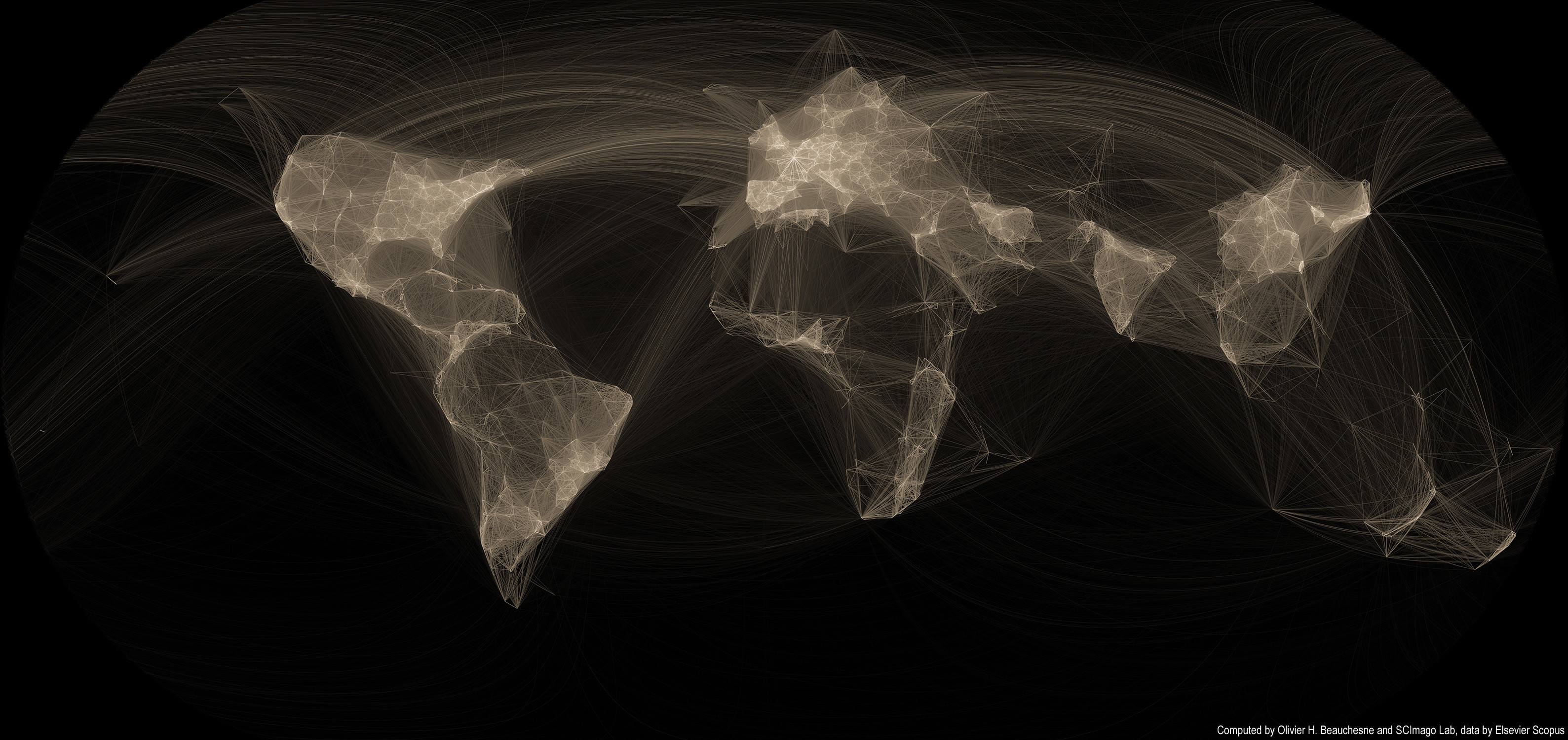 Joining the dots: A map of global scientific collaborations