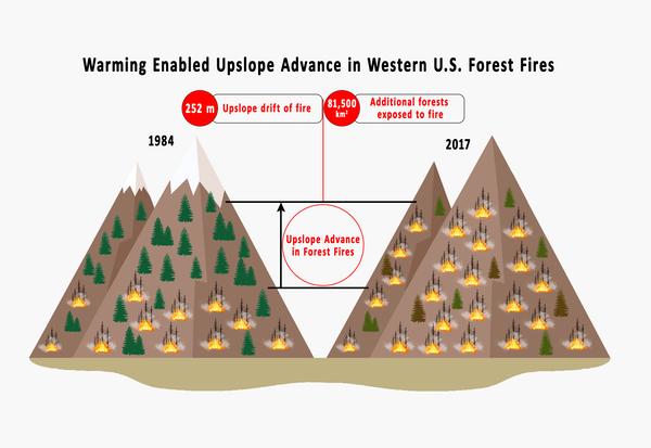 un gráfico que muestra el aumento de los incendios iwld en los EE. UU.