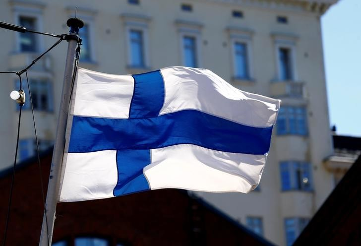 Finland's flag flutters in Helsinki, Finland, May 3, 2017. REUTERS/Ints Kalnins