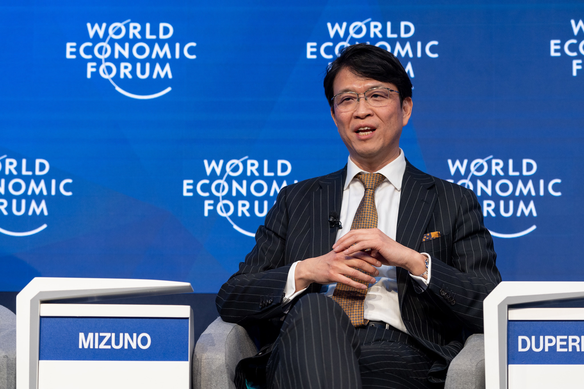 Hiromichi Mizuno, Executive Managing Director and Chief Investment Officer, Government Pension Investment Fund (GPIF), Japan, speaking in the Stakeholder Capitalism: How to Enable Long-Term Investing session at the World Economic Forum Annual Meeting 2020 in Davos-Klosters, Switzerland, 21 January. Congress Centre – Aspen 2. Copyright by World Economic Forum/Sandra Blaser