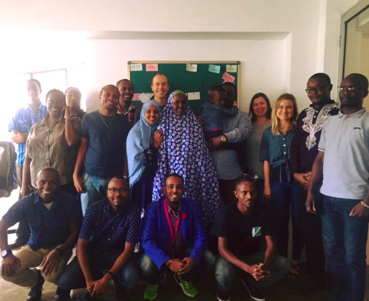 Farhiyo and Rahma with the REFUNITE Team in Nairobi, Kenya – September 2016